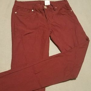 5 for 20! VIP Cranberry Skinny Pants
